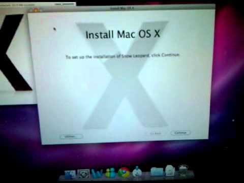 Problem installing Snow Leopard on MacBook Pro 15