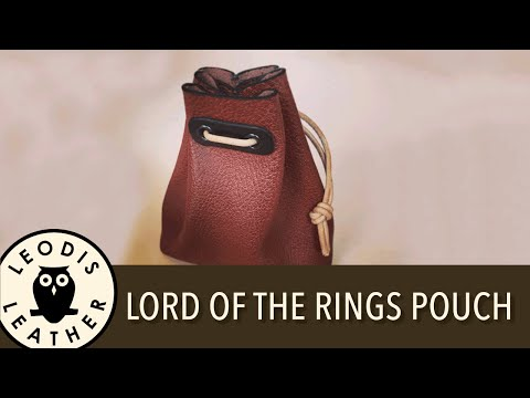Making a Lord of the Rings Style Leather Pouch
