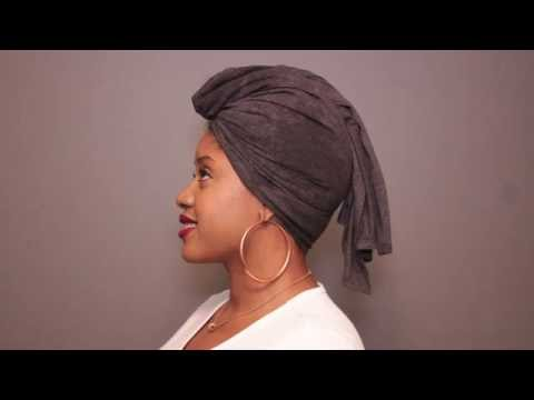 My Hair Tee T-Shirt Hair Towel Turban Style   Top Knot   Pineapple Style