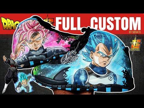 Full Custom   Jack Kelly's Dragon Ball Super Jordan 10s  by Sierato