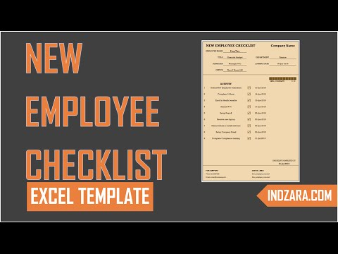 New Employee Checklist - Free Excel Template - Tour