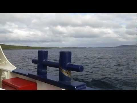 Onboard Shetland Islands Council ferry - MV BIGGA - heading from Gutcher, Yell to Belmont, Unst.