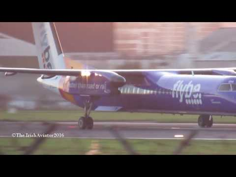 *Read Description*Flybe Q400 Departure George Best Belfast City Airport BHD!!!