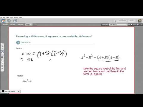 Factoring a difference of squares in one variable - advanced