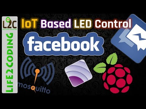 Control LED using Facebook Messages IoT MQTT Python on Raspberry Pi 3