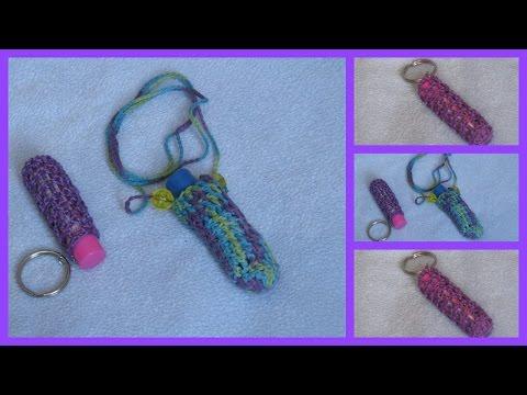 Crochet Lip gloss Holder/ Case