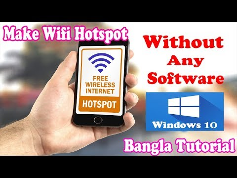 Make Wifi Hotspot Without Any Software Windows 10 । Enable Mobile Hotspot in Windows 10