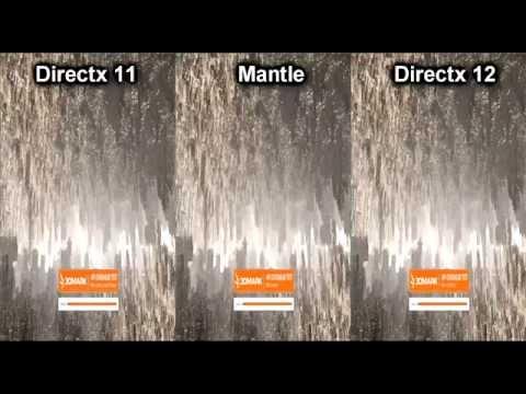 Directx 11 VS Mantle VS Directx 12 Api Overhead Test, i3 2120, R9 280x, Windows 10, Catalyst 15.7.1