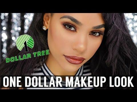 ONE DOLLAR MAKEUP SLAY   DOLLAR TREE MAKEUP CHALLENGE