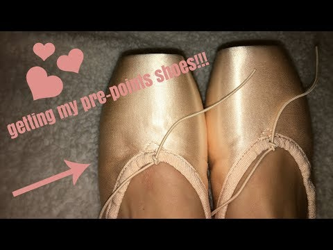 getting my pre-pointe shoes!!