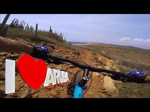 Searching for some sweet CARIBBEAN  Single Track | Aruba Mountain Biking | TRIBU Trail