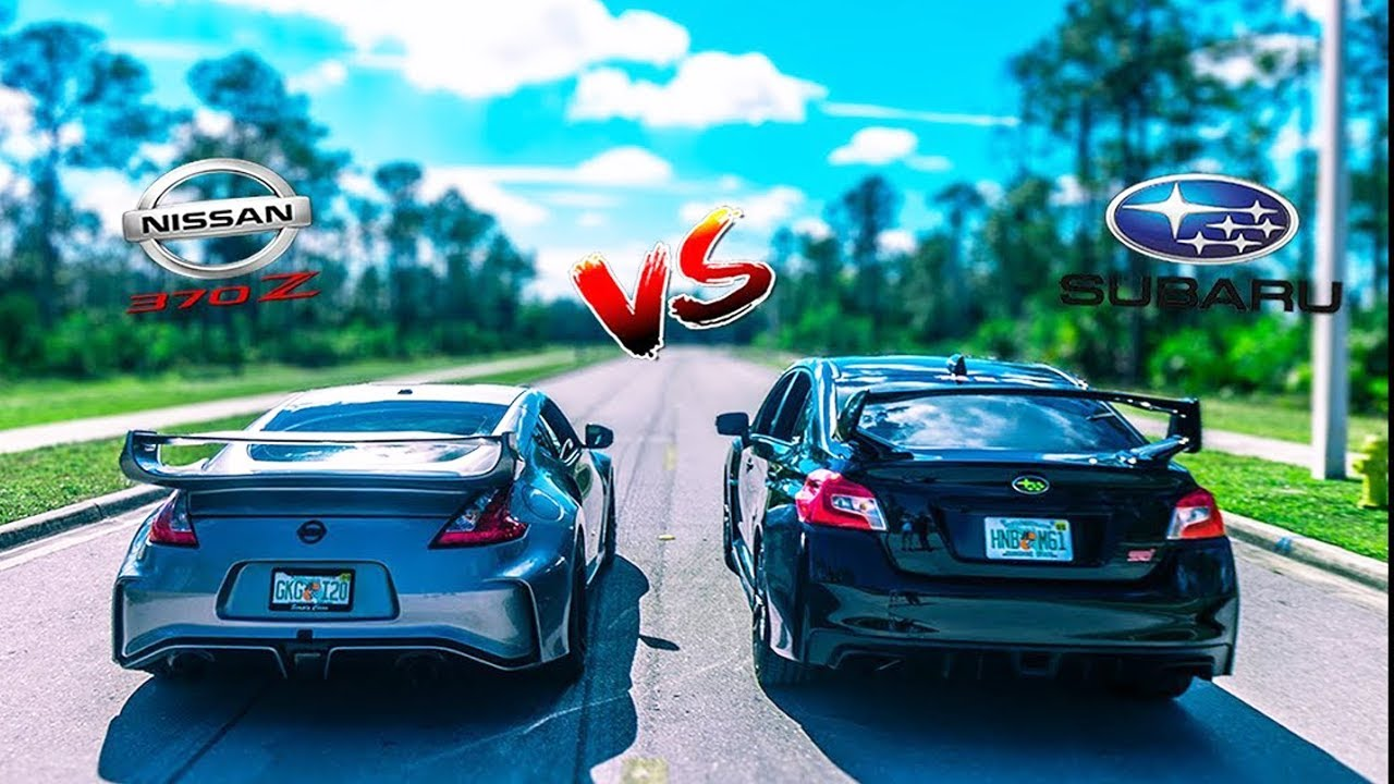 Ultimate Battle 370z Vs 2019 Subaru WRX STi | 0-60 | REV Battle | Race | Danny Z