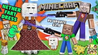 Search 4 Nether Fart Dress!  Minecraft PE Surprise 4 Mike (FGTEEV Dad & Kids Lets Play 0.12 Update)