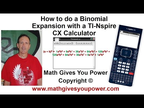 How to do a Binomial Expansion TI Nspire CX Calculator