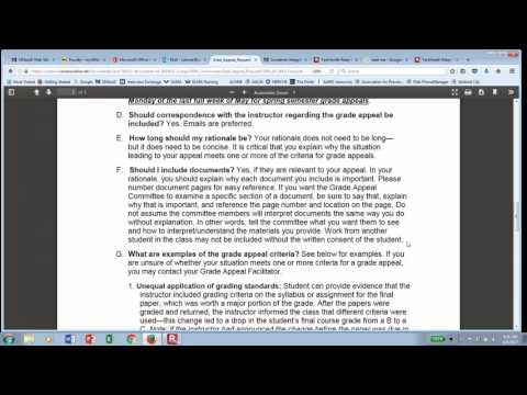 Grade Appeal Process