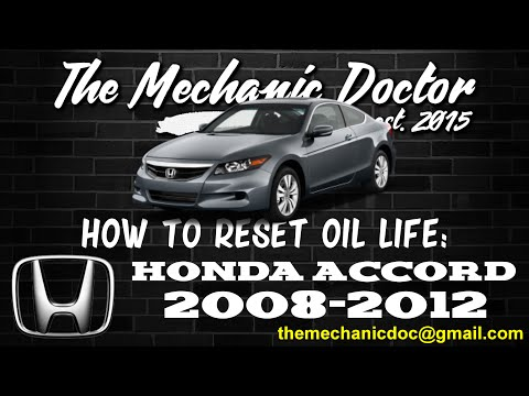 How to Reset Oil Light: Honda Accord 2008, 2009, 2010, 2011, 2012.