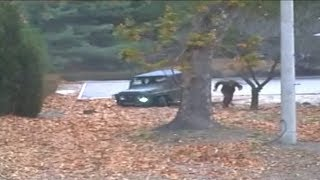 Dramatic video shows North Korean soldier