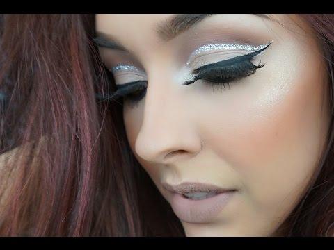 Glittery cut crease||Girls night out tutorial
