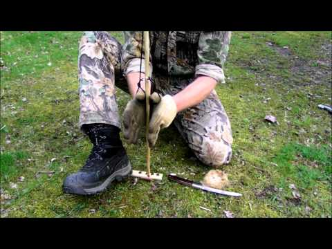Hand drill friction fire made easy