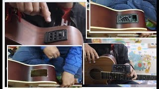 Convert Ur ACOUSTIC Guitar into ELECTRO ACOUSTIC GUITAR  Cheapest Easily - Hindi guitar tricks