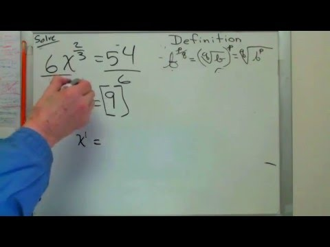 Equations to Solve With Fractional Exponents..