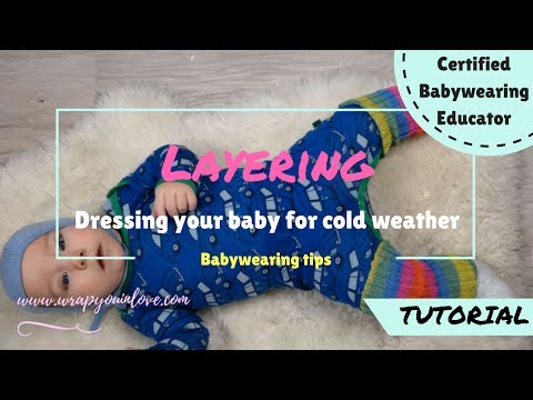 Babywearing: dressing your baby for the cold