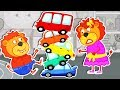 Lion Family 🏎️ Magic Little Driver Ride on Toy Cars Cartoon for Kids