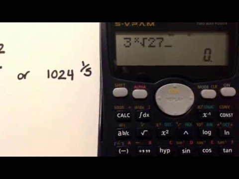 Calculating roots using your Casio fx-991MS calculator