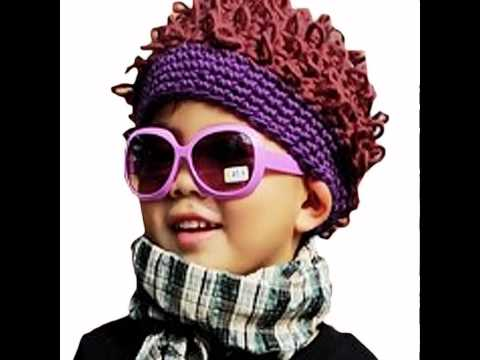 LOCOMOLIFE Baby Infant Knit Afro Bob Clown Wig Fake Hair Beanie Hat