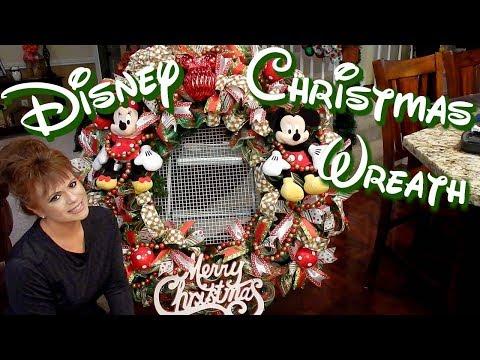 DISNEY CHRISTMAS WREATH TUTORIAL 2017   BOWDABRA BOW
