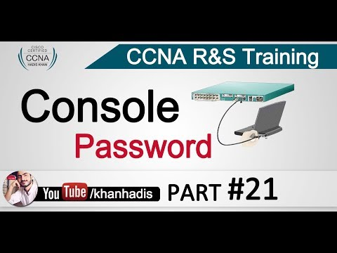 CCNA: Configuring Console Password in Urdu-Hindi Part 21