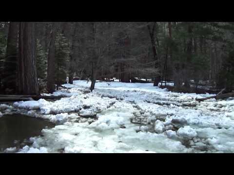 Frazil Ice Yosemite falls april 2012