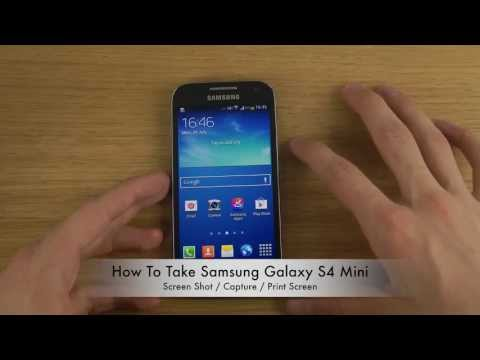How To Take Samsung Galaxy S4 Mini Screen Shot / Capture / Print Screen