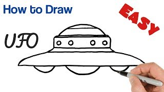 How To Draw Ufo Easy For Kids Step By Step O69fy Videostube