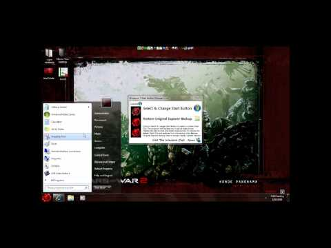 how to easly change windows 7 start orbs