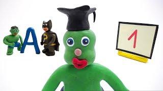 Baby Hulk Video Cartoons - Babyteaching Compilation - Play Doh Baby Stop Motions