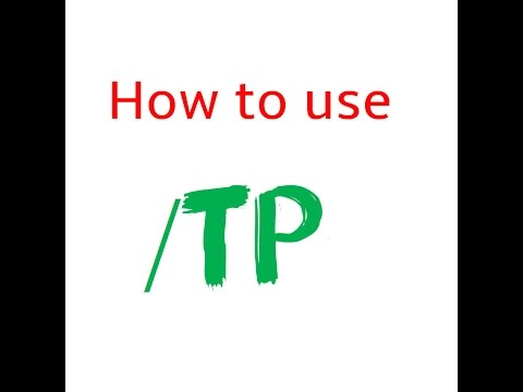How to use /tp command Minecraft