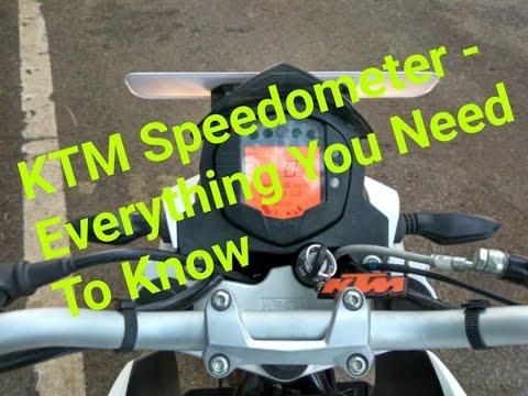 KTM Duke 200/390 RC 200/390 Speedometer - Setting and Functions