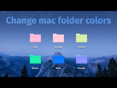HOW TO CHANGE MAC FOLDER COLOR