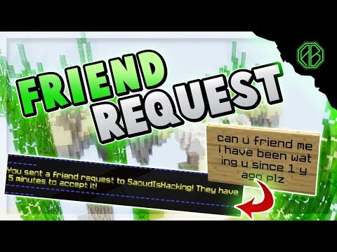 RANDOM KID BEGS for FRIEND REQUEST.. so I do it! ( Hypixel Skywars FUNNY MOMENTS )