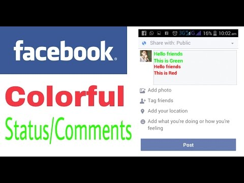 How to write colorful text on facebook