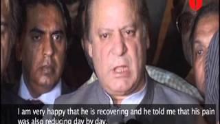 Sharif pays Imran Khan a friendly visit to the hospital