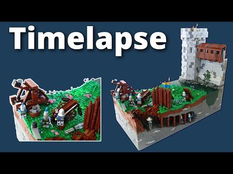 LEGO Castle Siege Build Timelapse