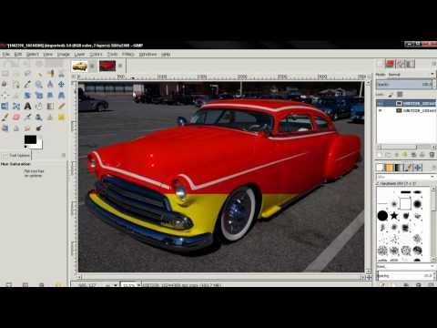 How to change car paint color in GIMP 2.8