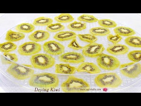 Timelapse of Drying Kiwi Fruit.