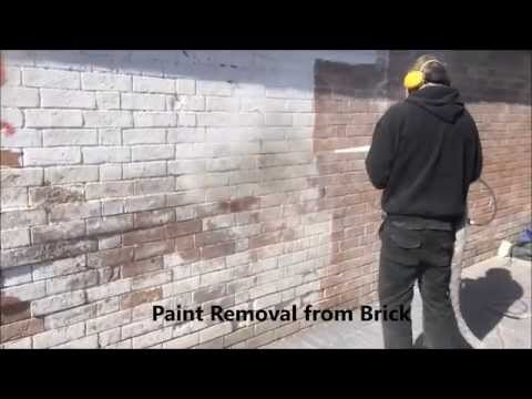 Optimum Dry Ice Blasting   Paint Removal from Brick