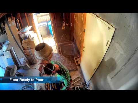 concrete floor - extending kitchen into garage
