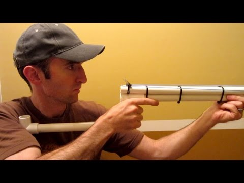 PVC Shotgun - Rubber Band Gun - Nerf Blowgun