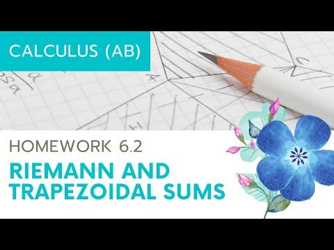 Calculus AB Homework 6.2 Riemann and Trapezoidal Sums