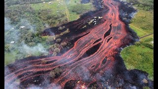 Lava Type Changes on Kilauea Red Rivers Pour to Ocean & Sulfur Dioxide Increases 300%  (611)